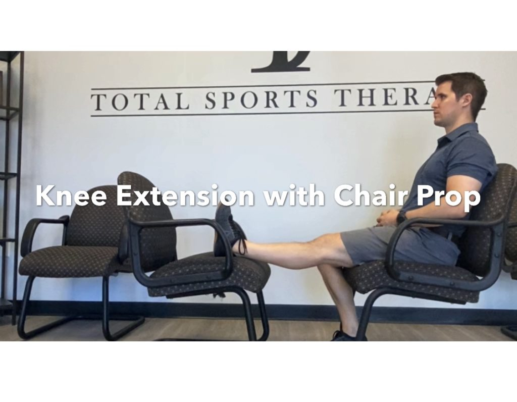 Knee extension with chair